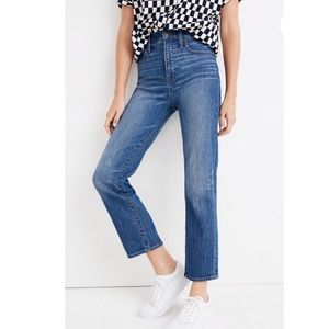 NWT Madewell Straight Leg Crop Jeans Sz 30